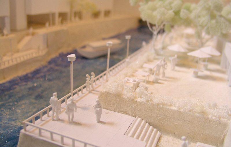 渋谷川模型 芝地区shibuya river model: scale 1/100