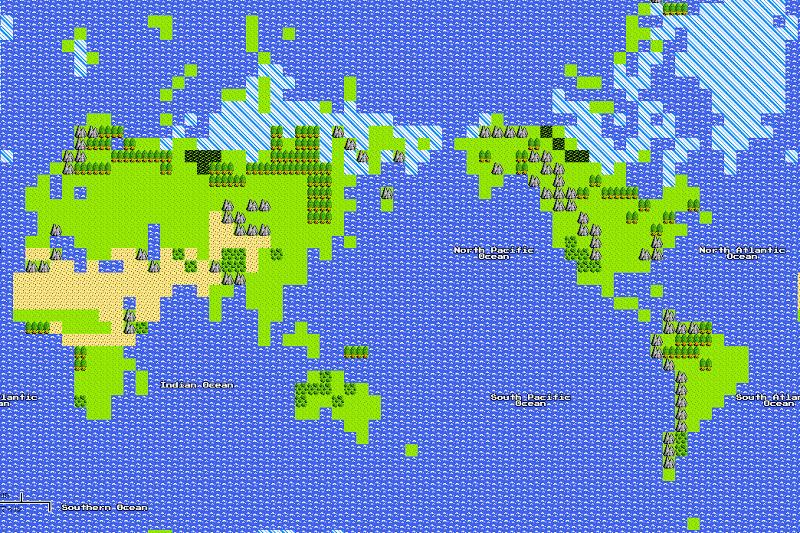地図 ドラクエ 3 世界