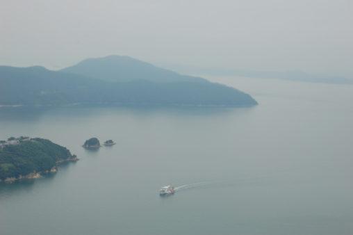 霧の瀬戸内海 小豆島