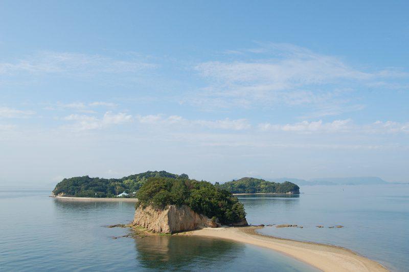 小豆島観光は干潮時刻をチェック!エンジェルロード Angel Road at Shodo island
