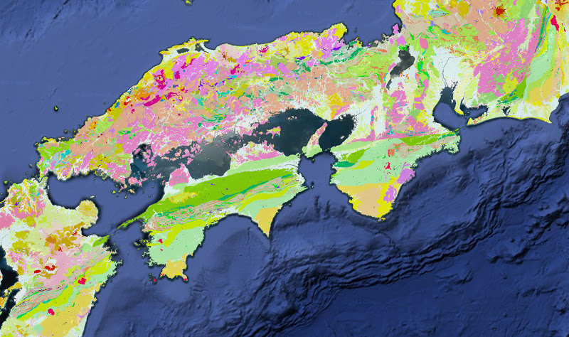 産総研が公開した地質サイトがすごい。四国の地質をみてみました「地質図Navi」