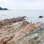 8000年の波の化石。高知県・竜串海岸 Tatsukushi Coast at Kochi pref.