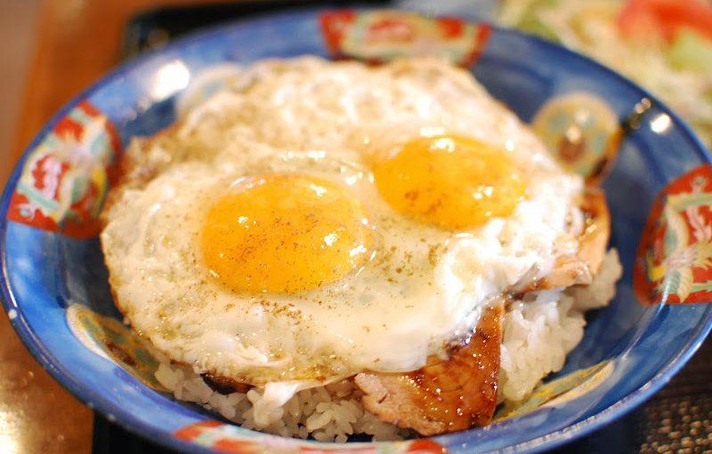 愛媛県今治市で生まれたB級グルメ 「焼豚卵飯」  Fried rice with eggs and barbecued pork