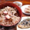 男木島 民宿さくらの桜色のたこ飯 Octopus rice of Sakura inn, Ogi island