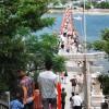 【8月4・5日だけ渡れます】 瀬戸に浮かぶ津嶋神社 The Tsushima Shrine, floating shrine at Seto Inland Sea