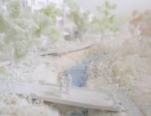 水と緑の回廊 渋谷川 建築学会設計競技 模型制作