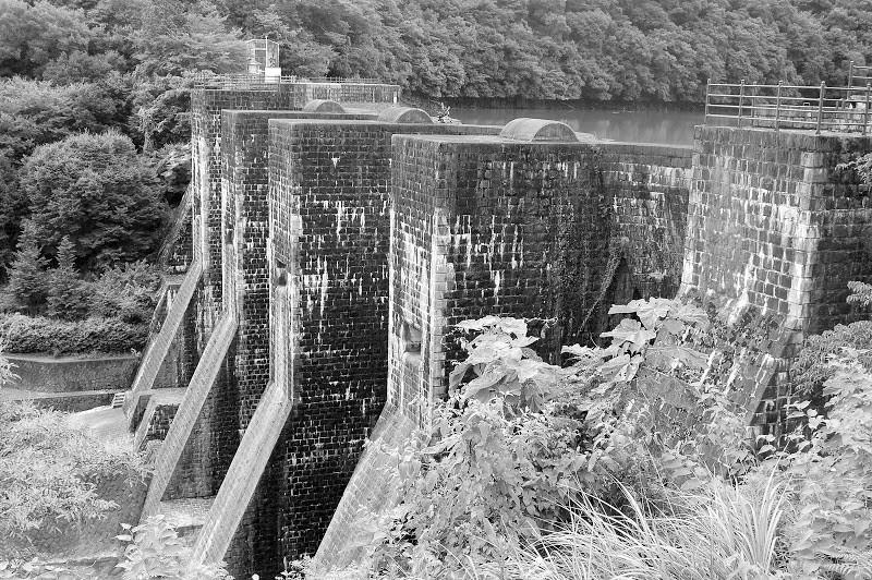 日本最古の石積式マルチプルアーチダム 国指定重要文化財 豊稔池ダム – [Kagawa 27th Aug] Tail water of Hōnenike Dam