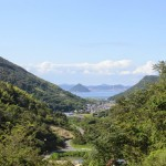 五色台からみた香川県高松市亀水(たるみ)湾の眺め