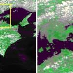NASAの衛星が捉えた井島(石島)の大規模火災