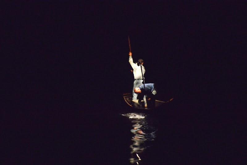 満天の星、四万十川の火振り漁