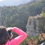 江戸の観光案内図をみながら小豆島・寒霞渓(かんかけい)を歩く Walk in Kankakei gorge of Shodoshima island with drawing of Edo priod