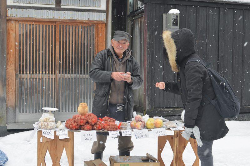 500年以上の歴史をもつ朝一。秋田県・五城目 The morning market at Gojōme