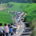 虫送り、江戸時代から小豆島に伝わる行事 – The torch procession at Shodoshima island