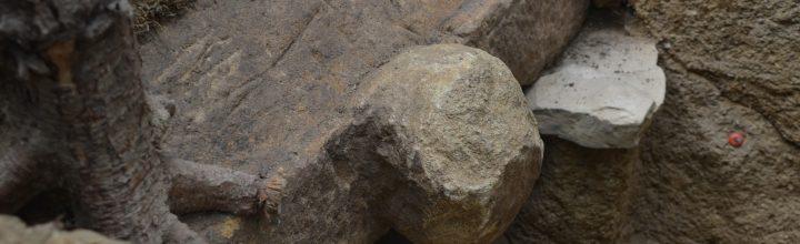 【写真レポート】東かがわ市で刳抜式石棺が発見されました! Stone coffin at Kagawa