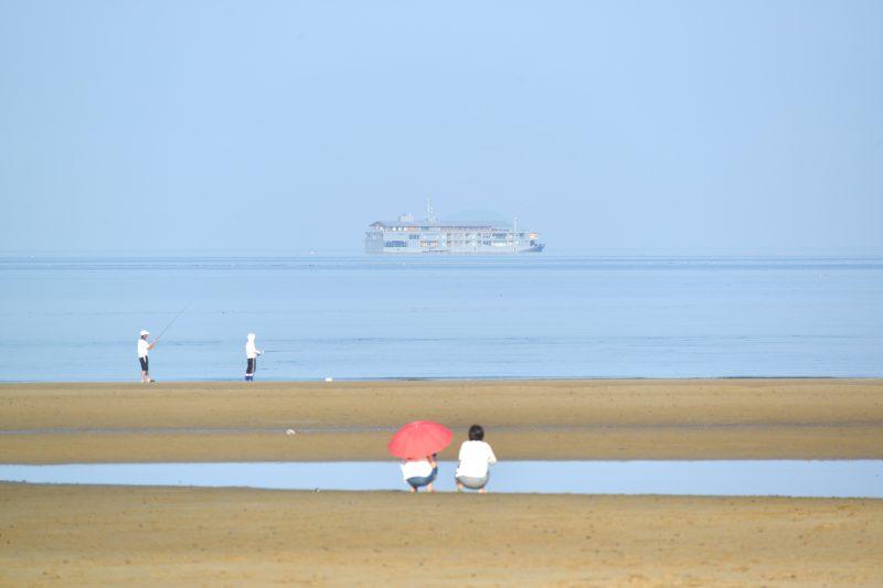 客船「guntû(ガンツウ)」が父母ヶ浜沖に漂泊!
