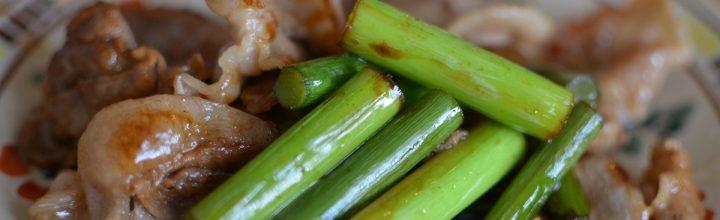【畑のレストラン】村のニンニクの芽を頂いたので料理してみた。