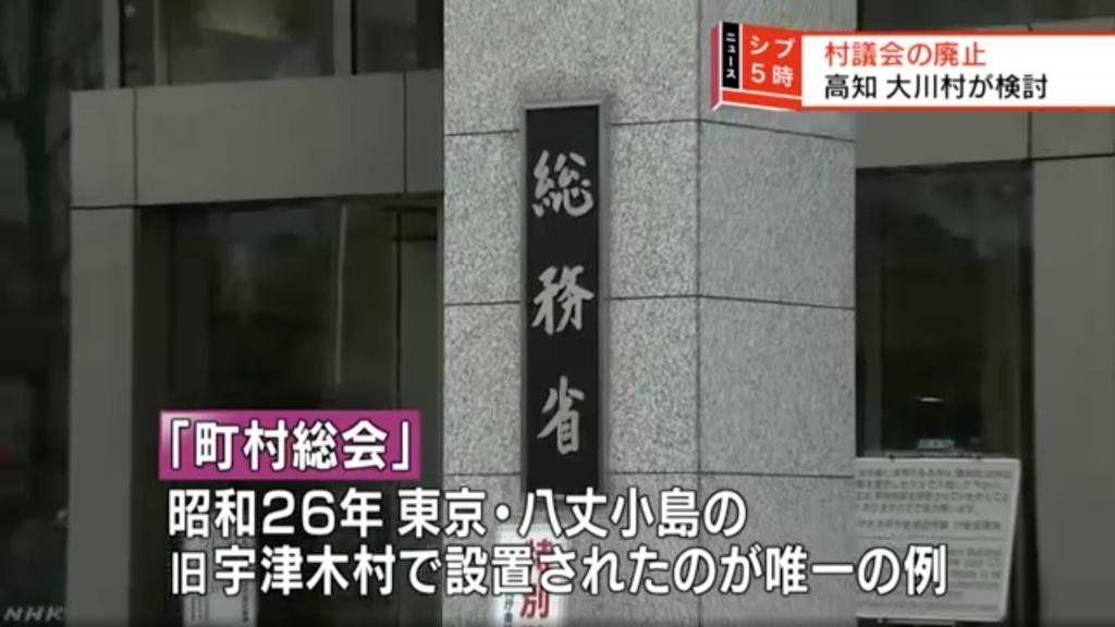 高知県大川村で、村議会を廃止し全国唯一の「町村総会」を検討 | 物語 ...