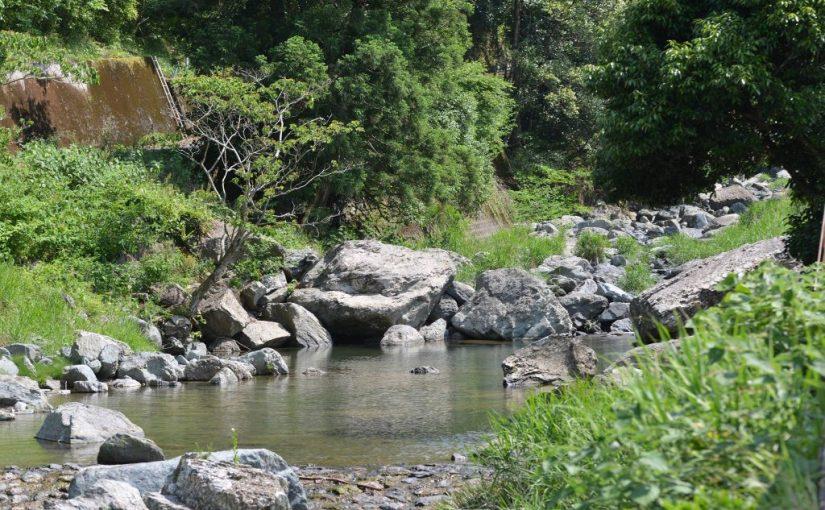 嵯峨川の遊泳場 Place for swimming at Saga river