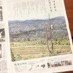 徳島新聞の15段広告に佐那河内村の風景が掲載!