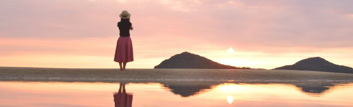 日本のウユニ湖が香川にある!?香川県の父母ヶ浜(ちちぶがはま)が美しい