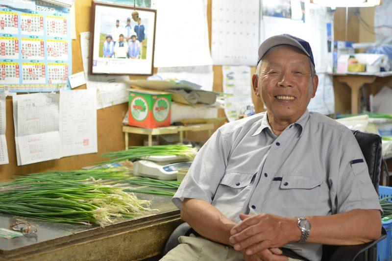 村の特産品『大川原ねぎ』農家、中井さん