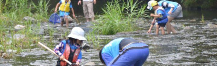 佐那河内村、園瀬川で川遊びイベント