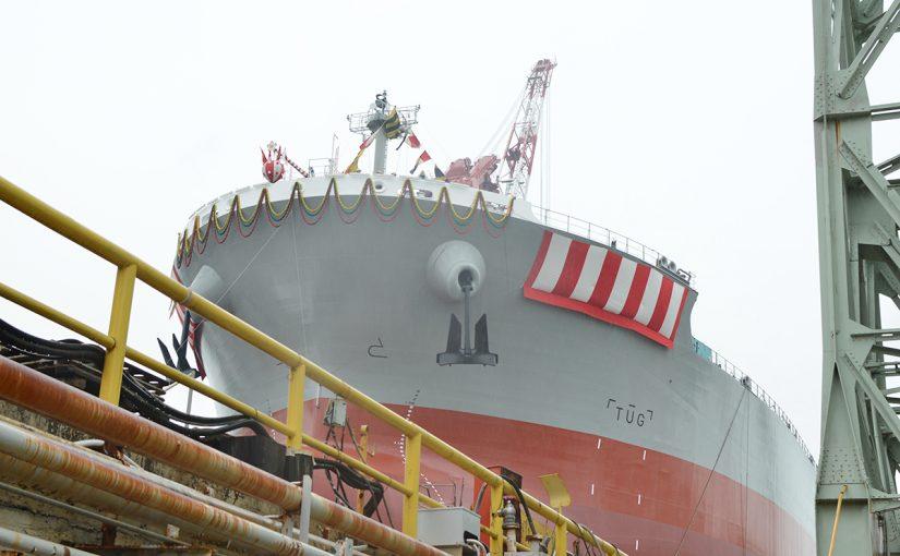 三井造船進水式 Launching ceremony