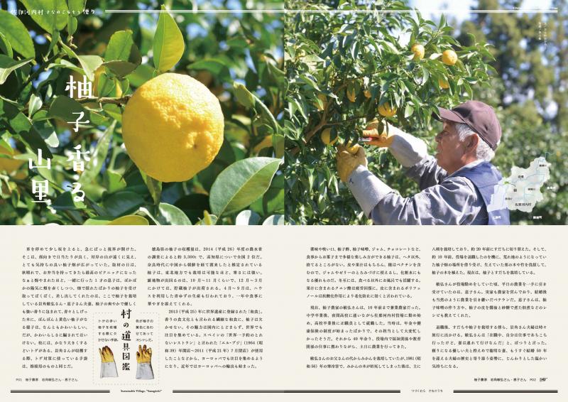 冬至の柚子、いい香り。佐那河内村