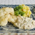 ハモのフリット 梅のタルタル添え – Fritto of Common Japanese conger and tartar sauce of Japanese plum