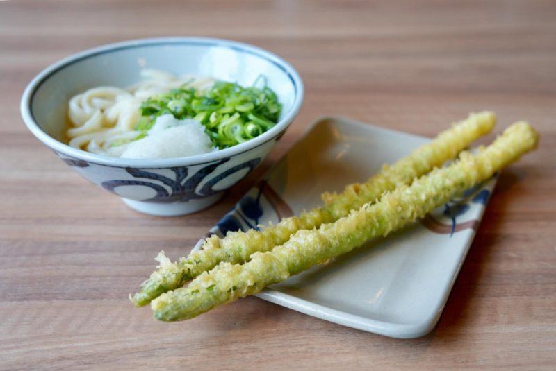 アスパラとうどん – Aspara Udon noodle