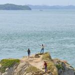 屋島の北端から瀬戸内を望む「長崎の鼻砲台跡」 – Remains of the Nagasaki-no-Hana Artillery Battery