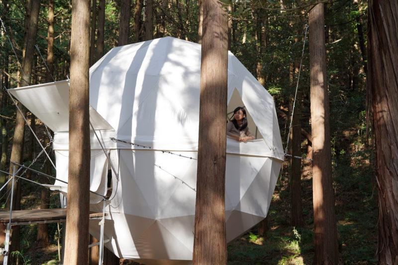 吊りテント。泊まれる公園『INN THE PARK』