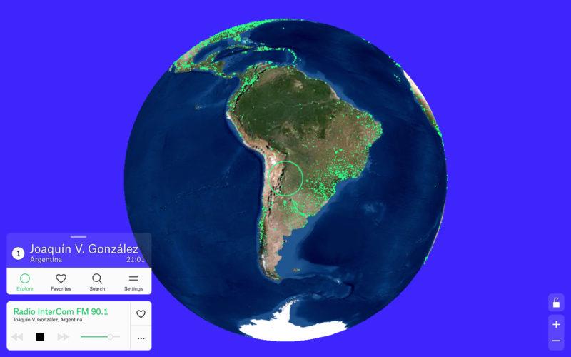 地球をインターフェースにしてラジオを聴く『Radio Garden』