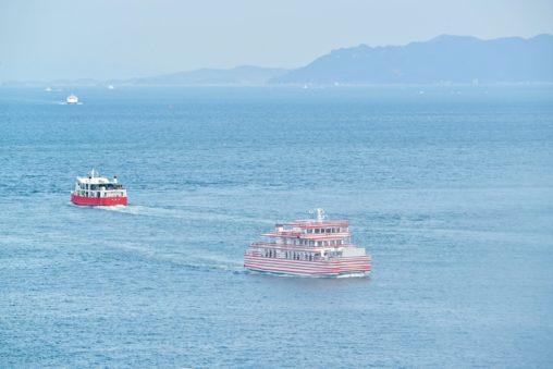 """【香川】高松港〜女木島〜男木島を34年間繋いできたフェリー『めおん』が引退し、新造船が就航! - Retirement and Launching ceremony for a new ferry """"Meon"""""""